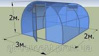 Дополнительная секция к теплице 3х2м с поликарбонатом  SOTALIGHT 4мм
