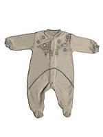 Велюровый человечек Украина (рост 62,68) белый для новорожденных на мальчика Б-487(55) рост 62 68