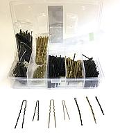 Проффесиональный парикмахерский набор  невидимок и шпилек №50000