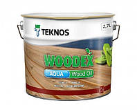 Масло воднодисперсионное TEKNOS WOODEX AQUA WOOD OIL для древесины 2,7 л