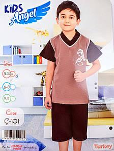 Детский комплект футболка+шорты для мальчика Турция. Kids Angel C-101. Размер 6-8 лет.