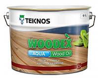 Масло воднодисперсионное TEKNOS WOODEX AQUA WOOD OIL для древесины 9 л