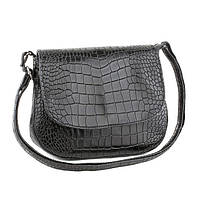 Женская сумка с отделкой кожи под крокодила