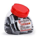 Мини-маркеры перманентные черные, L= 93мм, 80 шт/упак. INTERTOOL KT-5010, фото 2