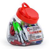 Мини-маркеры перманентные цветные, L= 93 мм, 80 шт/упак. (черный, синий, зеленый, красный) INTERTOOL KT-5011, фото 2