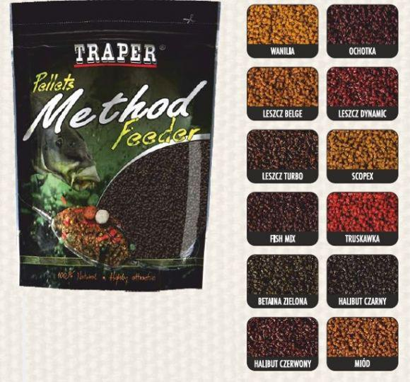 Пеллетс Traper Method Feeder 4 мм Betaine Green 500 гр