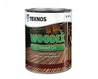 Масло органоразбавляемое TEKNOS WOODEX WOOD OIL для древесины 0,9 л