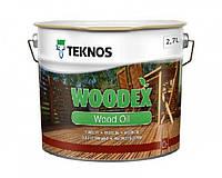 Масло органоразбавляемое TEKNOS WOODEX WOOD OIL для древесины 2,7 л