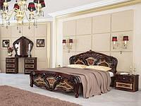Ліжко з ДСП/МДФ в спальню Реджина 1,6х2,0 з каркасом рубіно Миро-Марк