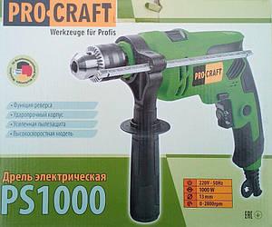 Дрель ударная ProCraft Ps1000