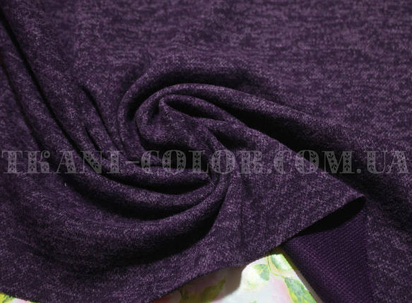 Трикотаж ангора софт фиолетовый меланж, фото 2
