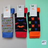 Носки однотонные с рисунком, подростковые, мужские носочки тм Африка р. 25,27