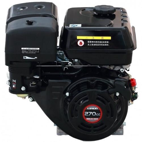 Двигатель бензиновый Loncin G270F (9 л.с., вал 25 мм, шпонка)