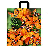 Пакет петлевая ручка 30*35 Бабочка