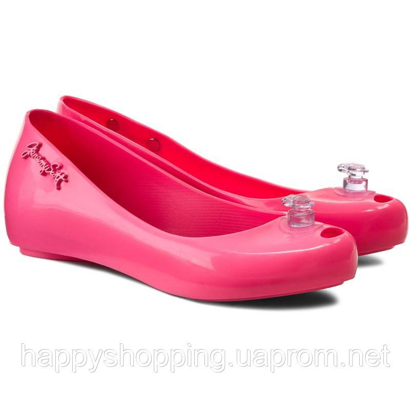 Ярко-розовые балетки Melissa