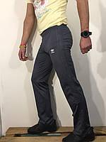 Штаны спортивные мужские серые с лампасами