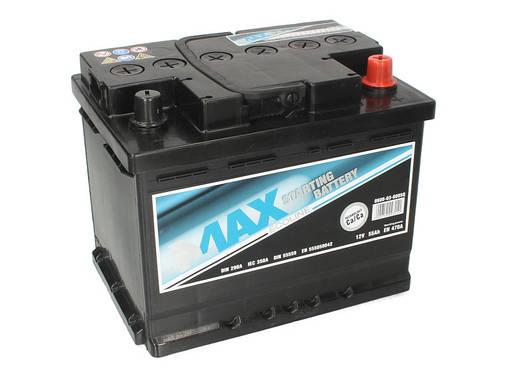 Аккумулятор 4Max Bateries 55Ah/470A R+(0) Ecoline 249x175x190, фото 2
