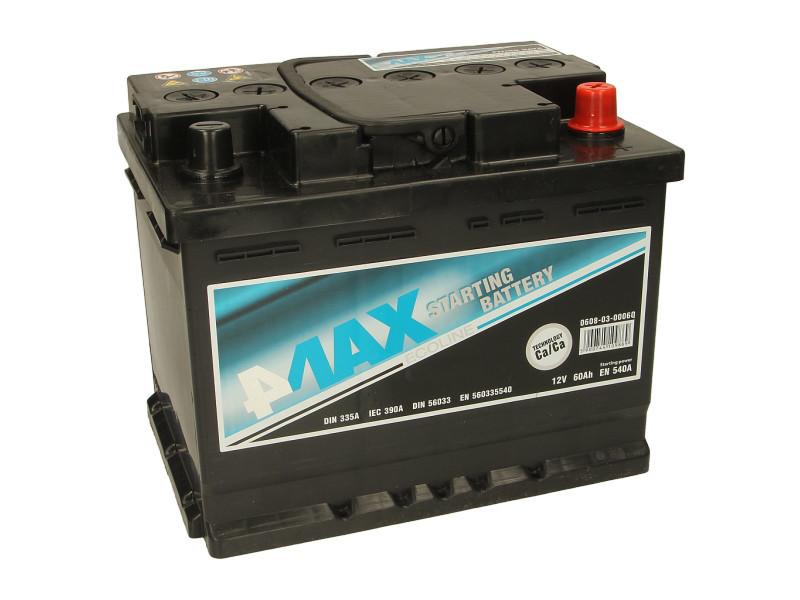 Аккумулятор 4Max Bateries 60Ah/540A R+(0) Ecoline 242x175x190