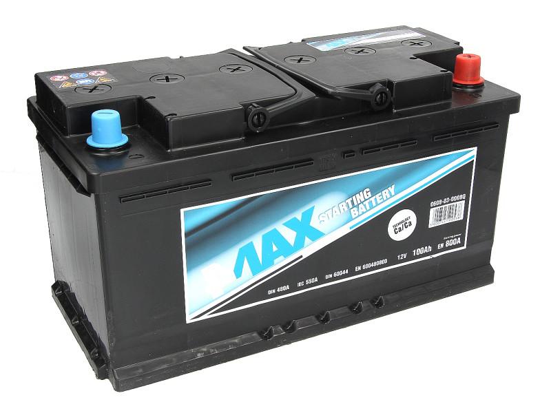 Аккумулятор 4Max Bateries 100Ah/800A R+ Ecoline 353x175x190
