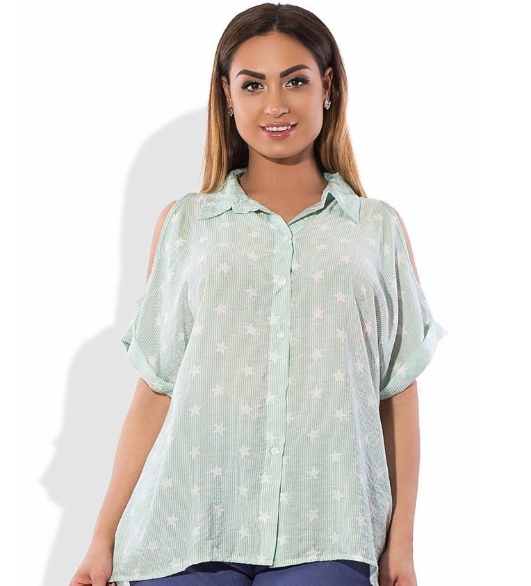 e95ba60dbc9 Рубашка с открытыми плечами с застежкой по всей спине размеры от XL 3011