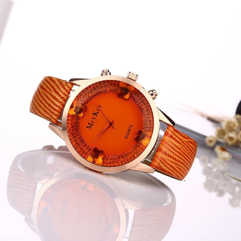 Часы наручные женские Gleam orange