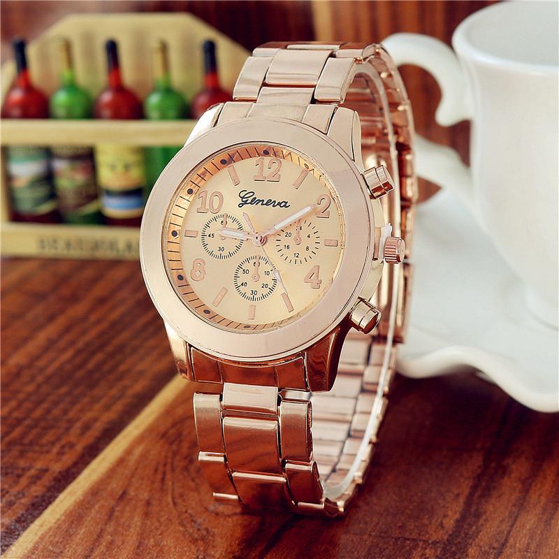 Часы наручные женские Geneva Lite rose gold