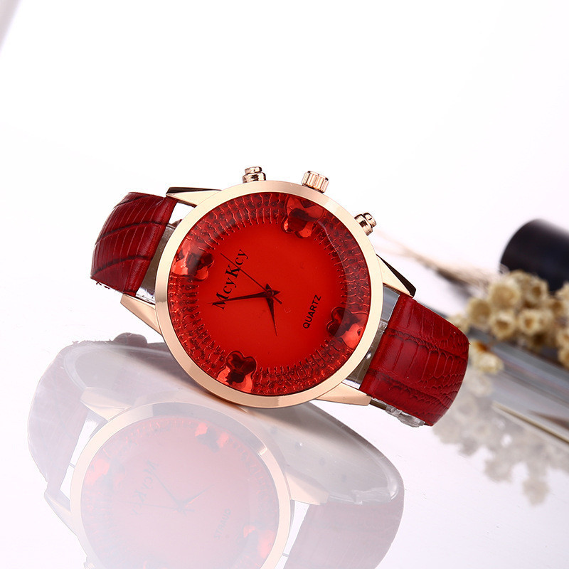 Часы наручные женские Gleam red