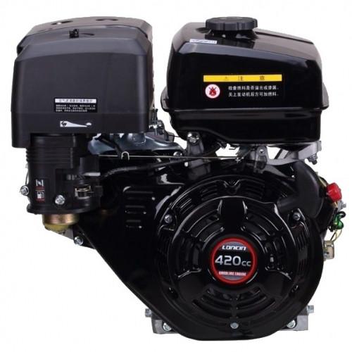 Двигатель бензиновый Loncin G420F (13 л.с., вал 25 мм, шпонка)