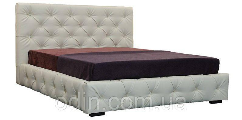 Кровать Ардженто белая со стразами (Crocus)