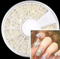 Жемчуг для дизайна ногтей белый