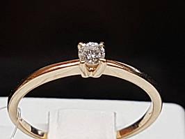Золоте кільце з діамантами. Артикул 501-00780 17