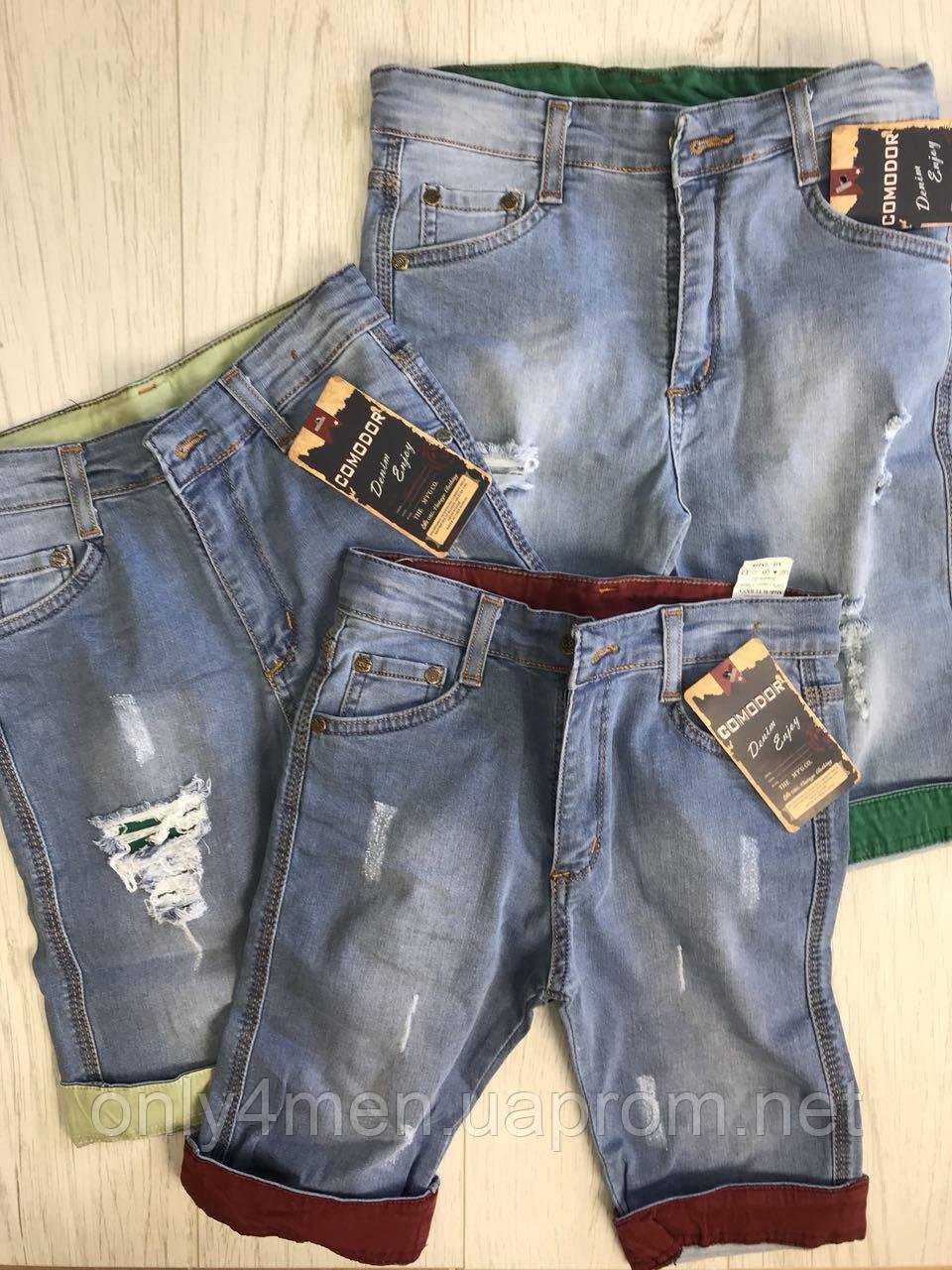 Детские джинс капри для мальчика 8-12 лет