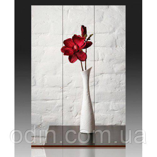 """Ширма SH-032 """"Красный цветок в белой вазе"""""""