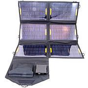 Солнечное зарядное устройство Atmosfera PETC-S21T, 21Вт, черное