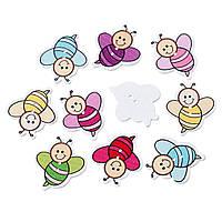 Пуговицы  пчелки 33мм. 10шт в наборе