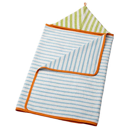 ИКЕА СТЭНКА Полотенце с капюшоном, голубой, зеленый, 60x125 см, 40252010, IKEA, ИКЕА, STANKA, фото 2
