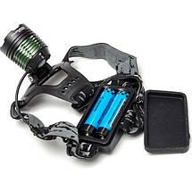 Мощный налобный LED фонарь POLICE BL-2188B T6, фото 3