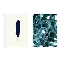Набор постеров IKEA TVILLING 2шт 30x40 см синие вариации 603.655.96