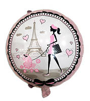 Фольгированный шар Париж 44 см Китай