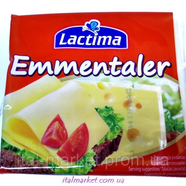Сыр тостерный Эмменталер Lactima Emmentaler 130 г, Польша