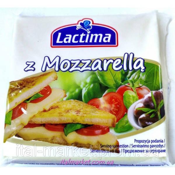 Сыр тостерный Моцарелла Lactima z Mozzarella 130 г, Польша