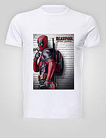 Футболка мужская размер L GeekLand Дэдпул Deadpool с рюкзаком DP.01.002