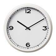 ПУГГ Часы, настенный, белые, 25 см, 20357881, IKEA, ИКЕА, PUGG