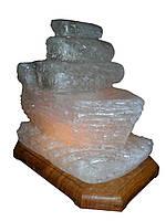 Солевая лампа, светильник Кораблик 3-4 кг.Белая,Цветная лампочка.