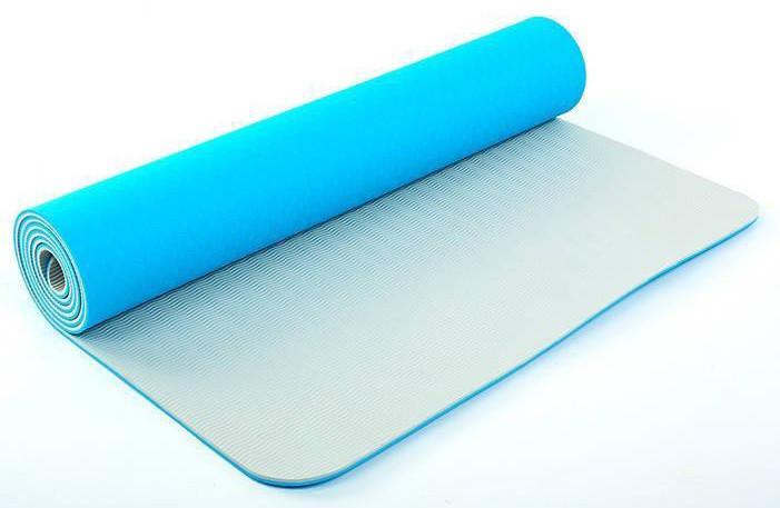 Коврик для йоги «LiveUp» LS3237-06blu TPE 1730x610x6мм
