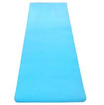 Коврик для йоги «LiveUp» LS3237-06blu TPE 1730x610x6мм, фото 2