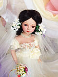 Кукла невеста Арлена (40 см.) фарфоровая, фото 6