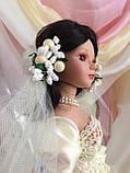 Кукла невеста Арлена (40 см.) фарфоровая, фото 8