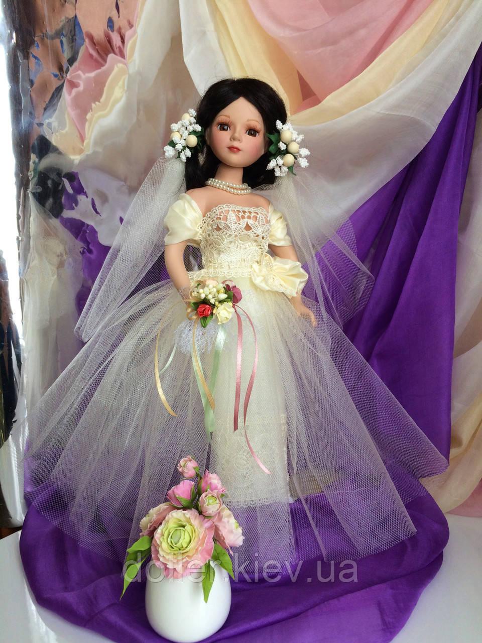 Кукла невеста Арлена (40 см.) фарфоровая