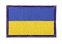 Флаг Украины на липучке 60 х 40 Velcro для кепки-бейсболки и панамы